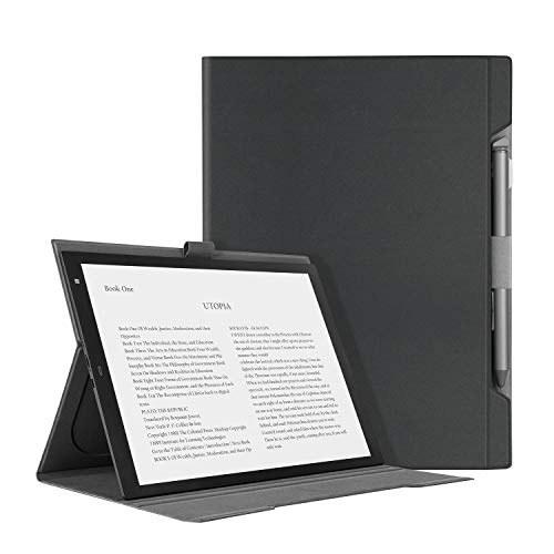 """تصویر روکش چرمی تاشو Ayotu Microfiber برای دیجیتال کاغذ دیجیتال سونی DPT-CP1 10 """"، کاغذ سبک و نازک با عملکرد ایستاده و شکاف قلم برای Sony DPT-CP1"""