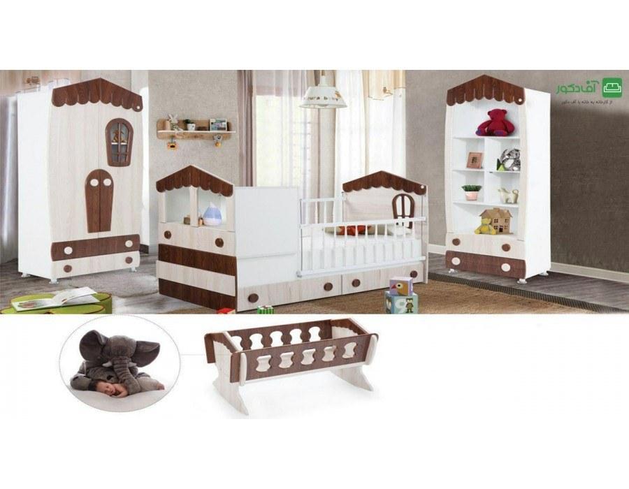 تخت خواب نوزاد نوجوان کلبه |