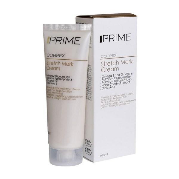 تصویر کرم ضد ترک پوست بدن پریم مدل Corpex حجم 75 میل Prime Stretch Mark Cream 75ml