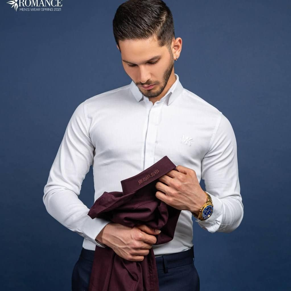 تصویر پیراهن آستین بلند مردانه اسلیم فیت – کد 081