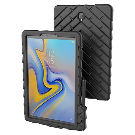 تصویر قرص Gumdrop DropTech با اسلات S Pen طراحی شده برای تبلت Galaxy Tab S4 10.5 اینچ برای تجارت ، تجارت و ملزومات اداری - مشکی ، ناهموار ، جذب شوک ، محافظت گسترده از قطره