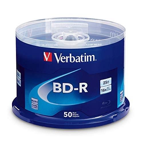 عکس Verbatim BD-R 25GB 16X Blu-ray Recordable Media Disc - 50 Pack Spindle  verbatim-bd-r-25gb-16x-blu-ray-recordable-media-disc-50-pack-spindle