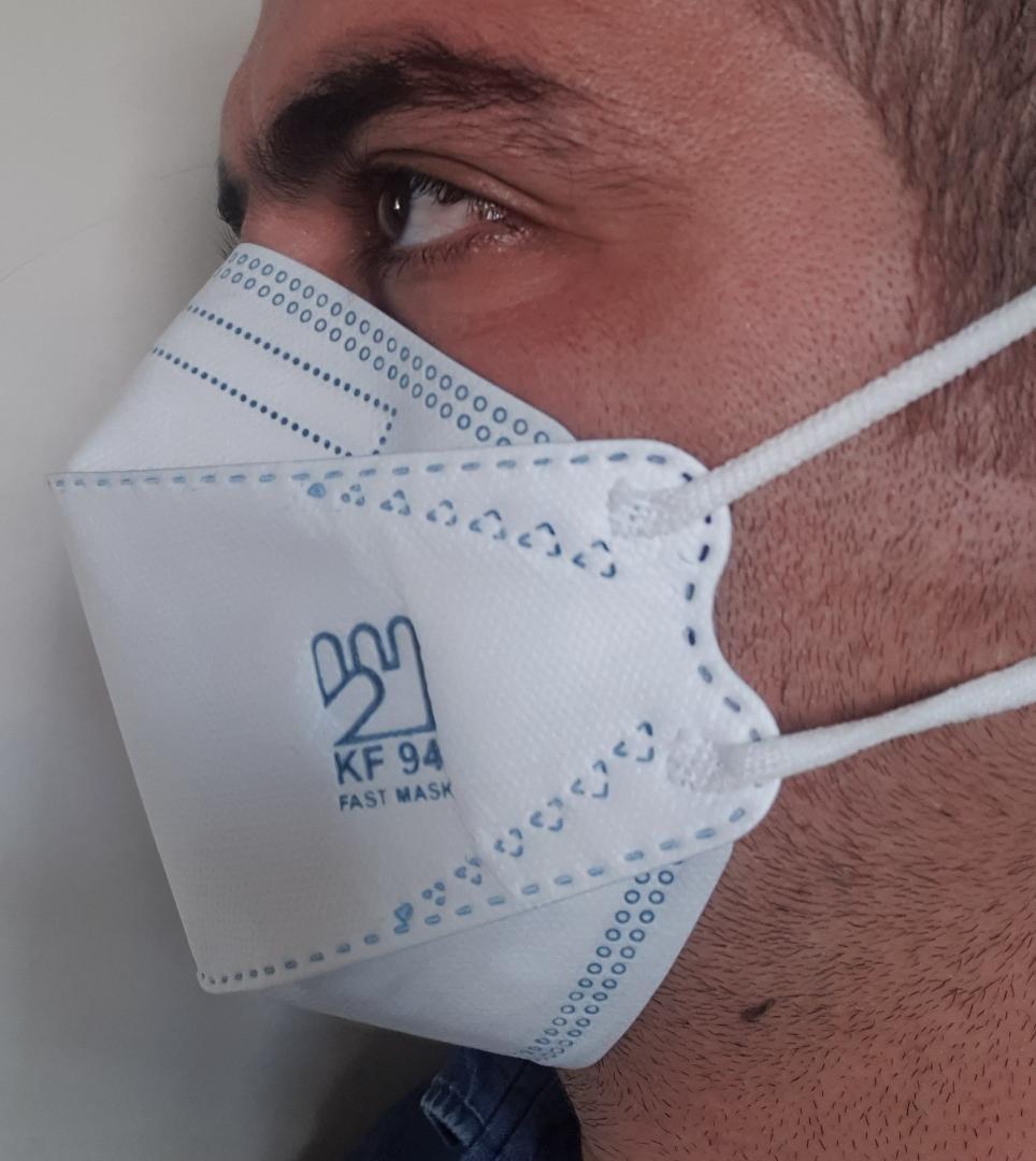 تصویر ماسک سه بعدیkf94 (فست ماسک اصلی)۵لایه