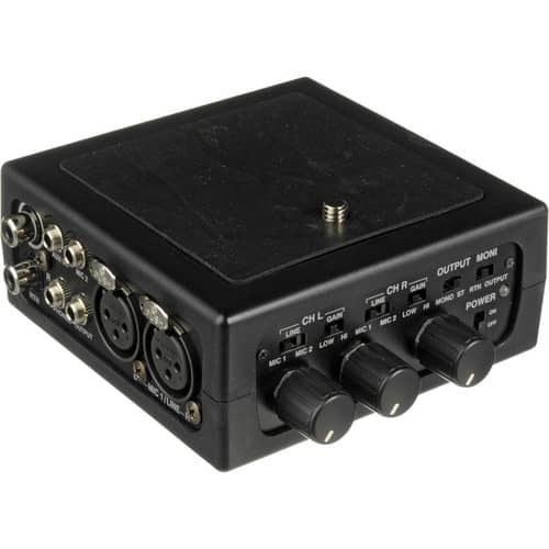 main images میکسر اذدن AZDEN FMX-DSLR PORTABLE AUDIO MIXER FOR DIGITAL SLR CAMERA آکبند
