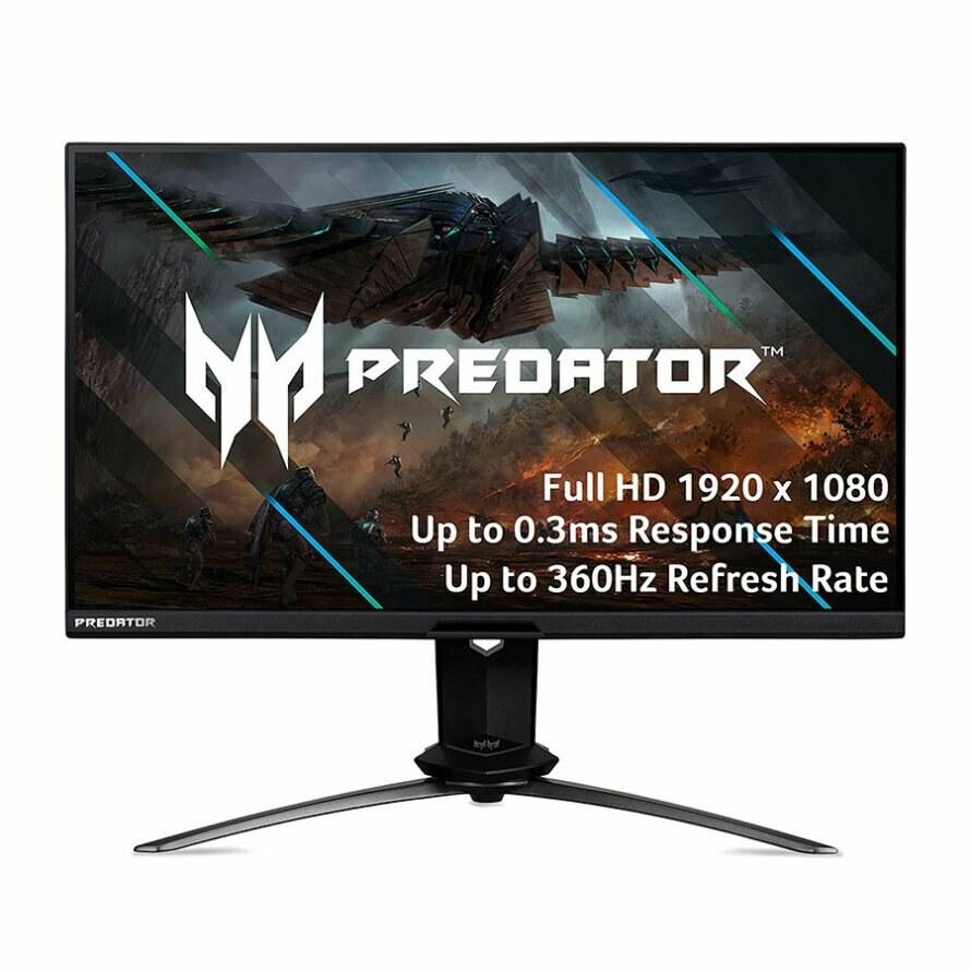تصویر مانیتور گیمینگ 24.5 اینچ ایسر Predator X25 Acer Predator X25 24.5 Inch 360Hz HDR 400 FHD IPS G-SYNC eSPORT Gaming Monitor