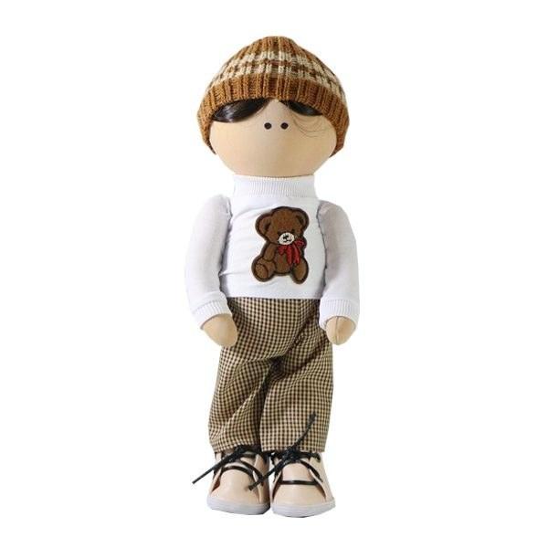 عروسک روسی پارچه ای دخترک کلاه دار کد 113