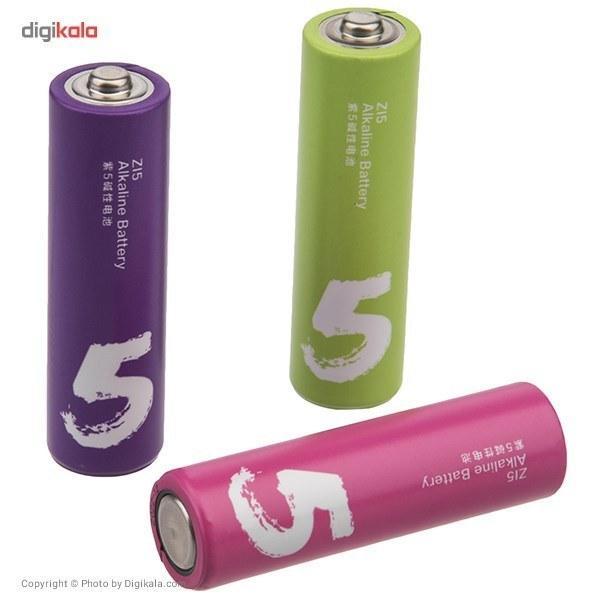 تصویر باتری نیم قلمی مدل ZI7 بسته 10 عددی ZI7 Alkaline AAA Battery - Pack Of 10