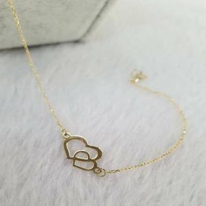 دستبند طلا دخترانه قلب ظریف