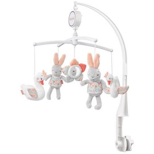 آویز تخت موزیکال بیبی فنBabyfehnطرح-خرگوش |