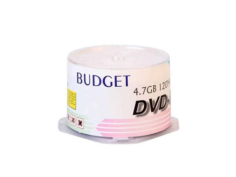 تصویر دی وی دی خام باجت 16x بسته 50 عددی Raw DVD budget 16x package of 50 pieces