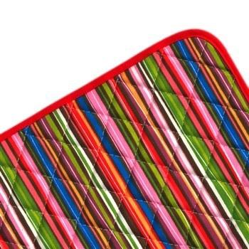آبگير کنار سينک کتان رزين تاژ طرح راه راه رنگي | Rezin Taj Colorful Striped Denim Dehumidify Sink