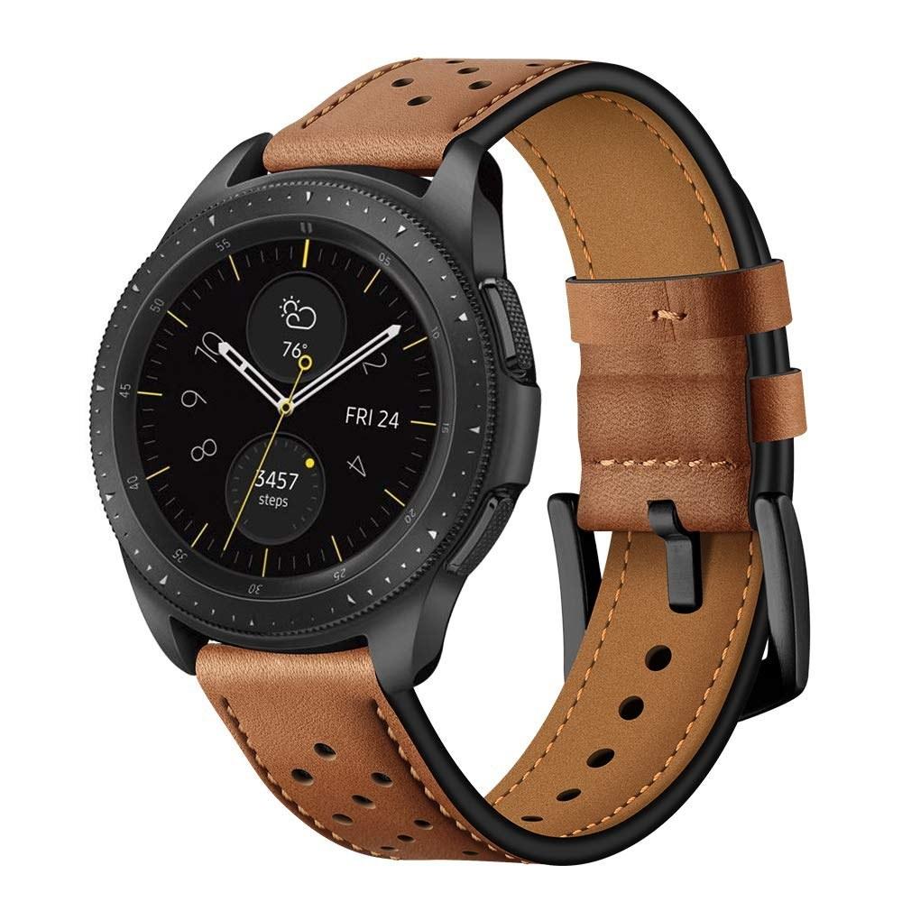 Compatible Samsung Galaxy Watch 42mm/Samsung Gear Sport/Samsung Gear S2 Genuine Leather Watch Bands 20mm Watch Strap Bracelet