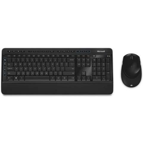 تصویر کیبورد و ماوس بی سیم مایکروسافت مدل Microsoft 3050 Microsoft 3050 Wireless Keyboard and Mouse