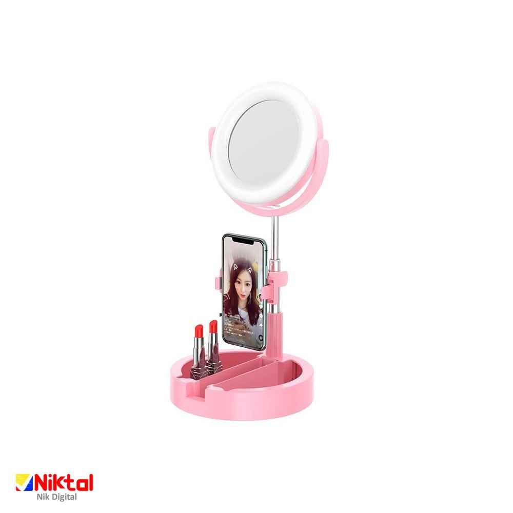 تصویر آینه چراغ دار آرایشی مدل K3