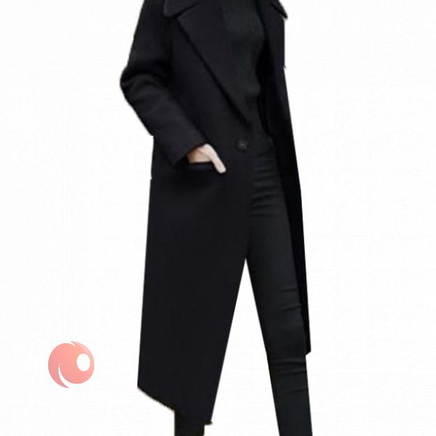 تصویر پالتو زنانه مدل تک دکمه