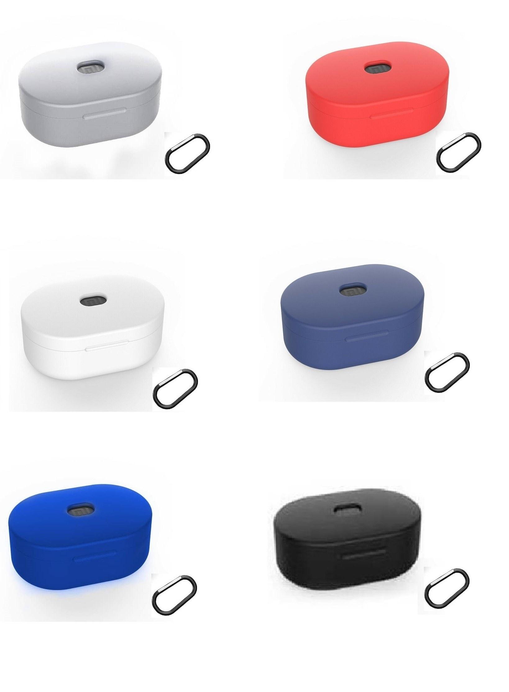 تصویر کاور محافظ سیلیکونی شیائومی Xiaomi Redmi Airdots S / Airdots / Airdots 2 /earbuds basicدارای قلاب آویز Xiaomi cover Redmi Airdots S / Airdots / Airdots 2 /earbuds basic