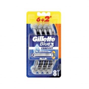 عکس خودتراش ژیلت مدل Gillette Blue3 بلو کامفورت بسته 8 عددی  خودتراش-ژیلت-مدل-gillette-blue3-بلو-کامفورت-بسته-8-عددی