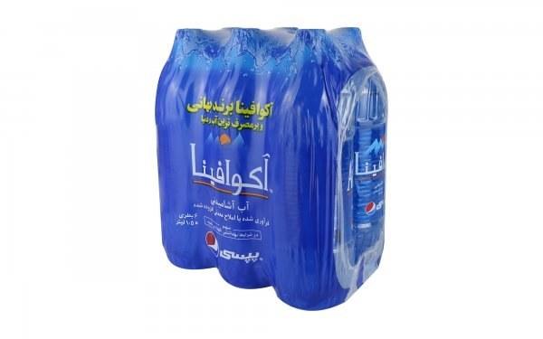تصویر آب آشامیدنی آکوافینا پپسی 1.5 لیتری بسته 6 عددی