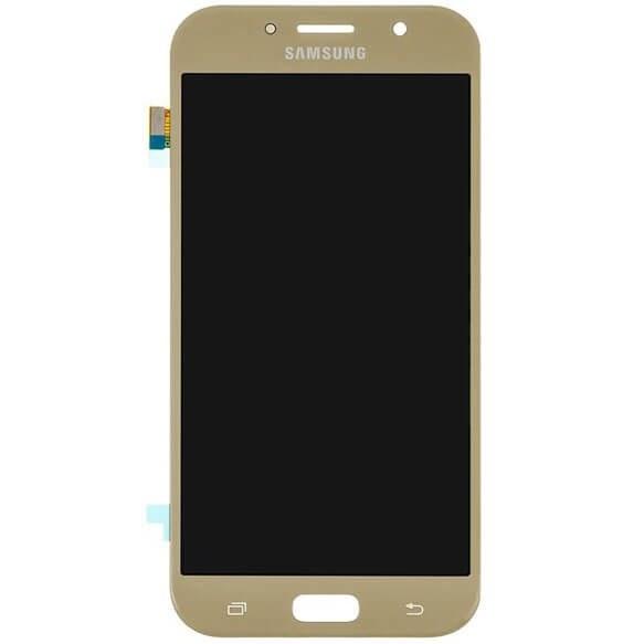 main images تاچ ال سی دی گوشی موبایل سامسونگ SAMSUNG GALAXY A720 / A7 2017 ساخت چین OLED طلایی