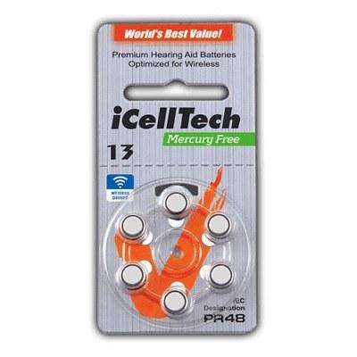 تصویر باتری سمعک آیسل تک ZA13 icell tech
