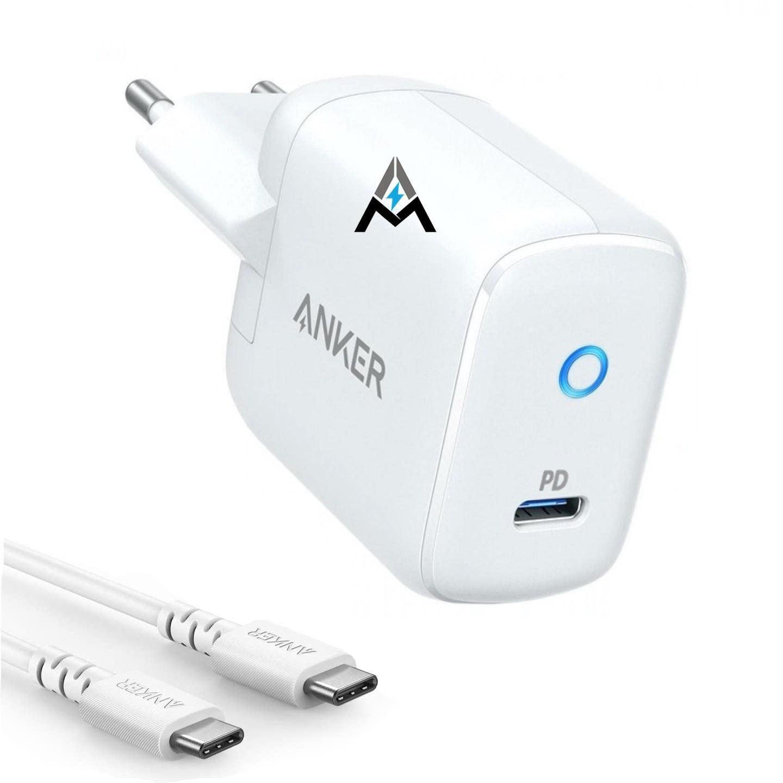 تصویر شارژر دیواری انکر مدل B2019 به همراه کابل تبدیل USB-C