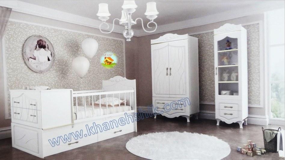 تخت و کمد کودک (سیسمونی)