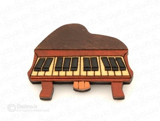 پیکسل چوبی طرح پیانو Zarrin-pin-12 |