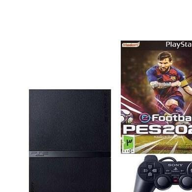main images Game console set with 1 game Sony PlayStation 2 Scph-90006 کنسول بازی غیر اصل پلی استیشن 2 Scph-90006 به همراه 1 عدد بازی