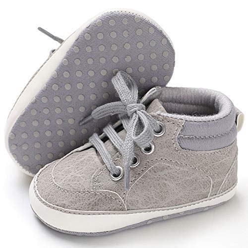 کفش بوم کودک بچگانه ، دختران بدون لغزش نرم ، کودک نو پا اول کفش راه راه کفش بالای مچ پا بالا پا