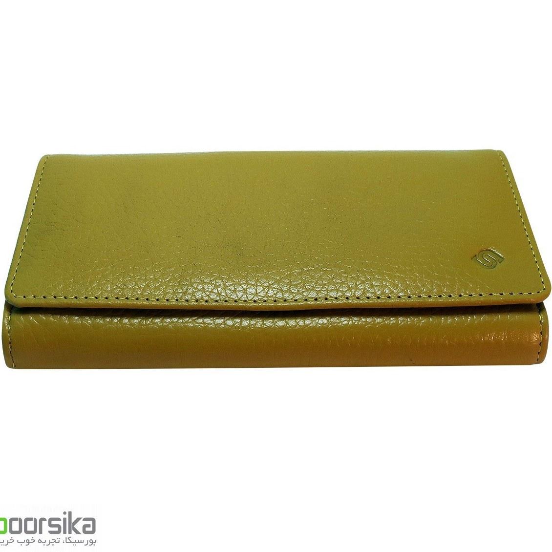 کیف پولی چرم سورنا سه لت زنانه مدل Surena Handbag Z101