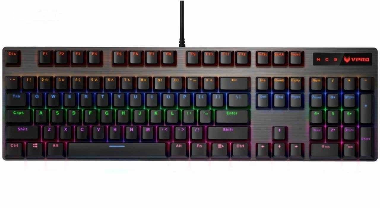 تصویر کیبورد مکانیکال گیمینگ باسیم V500 رپو Rapoo V500 pro Mechanical Gaming Keyboard Rapoo V500 PRO Mechanical Gaming Keyboard