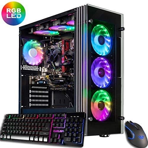 CUK Stratos Gamer PC (AMD Ryzen 9 3900X, NVIDIA GeForce RTX 2080 Ti, 64GB RAM, 1TB NVMe SSD + 2TB, 750W Gold PSU, AC WiFi, Windows 10) Best Tower Desktop Computer for Gamers  