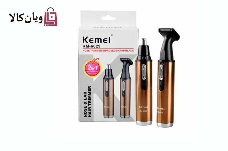 تصویر موزن گوش و بینی دوکاره کیمی Kemei KM-6629 Kemei KM-6629 Nose & EAR Hair Trimmer