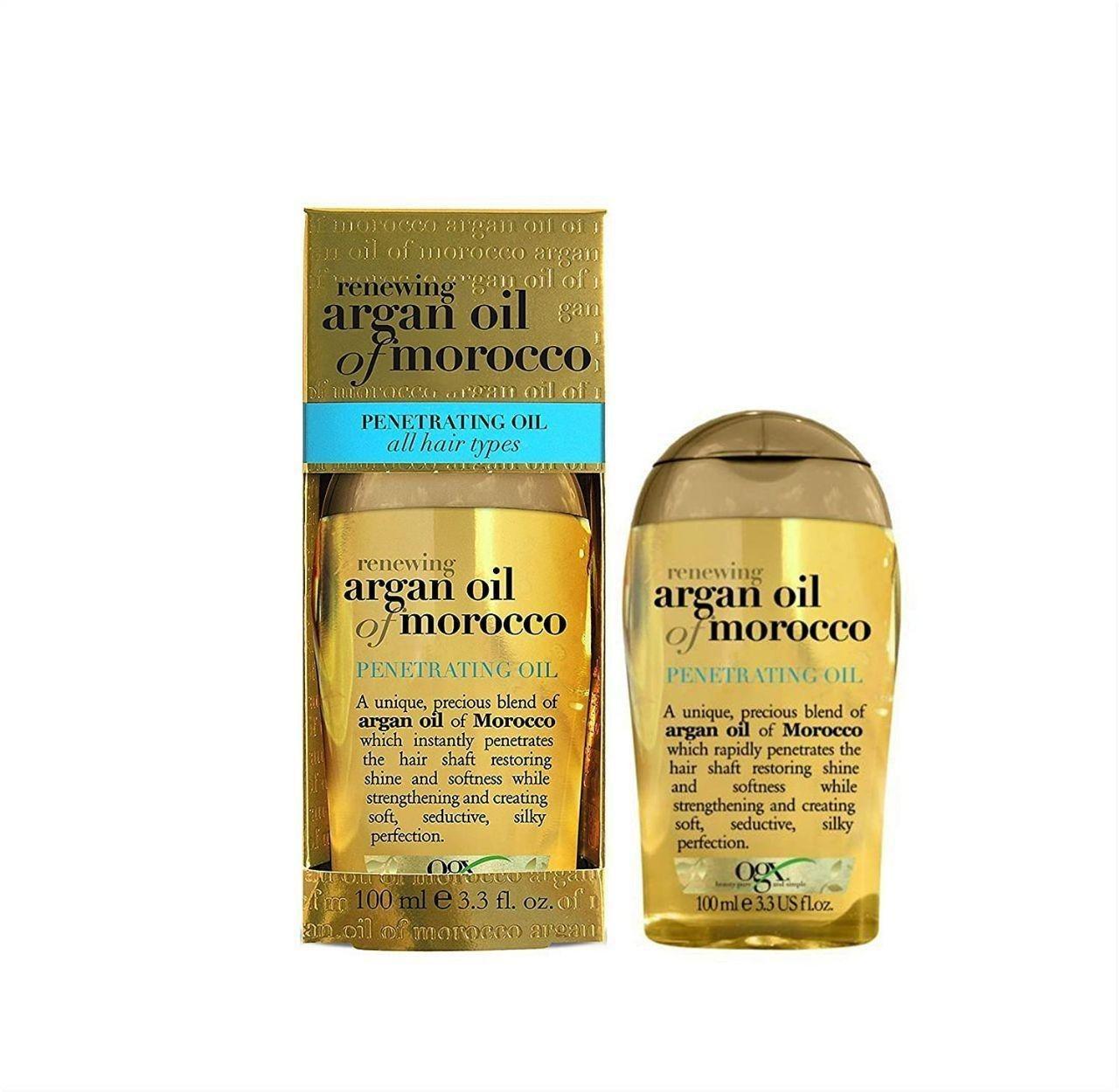 تصویر روغن آرگان او جی ایکس مدل Ogx Argan Oil Of  Morocco حجم 100 میلی لیتر OGX Argan Oil Of Morocco Extra Penetrating Hair Oil