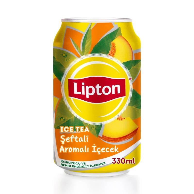 تصویر نوشیدنی آیس تی هلو لیپتون حجم 330 میلی لیتر LiptonPeach Iced Tea 330 ml