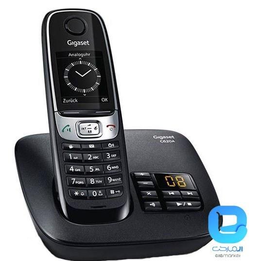 تصویر گوشی تلفن بی سیم گیگاست مدل C۶۲۰A قیمت   به شرط خرید تیمی