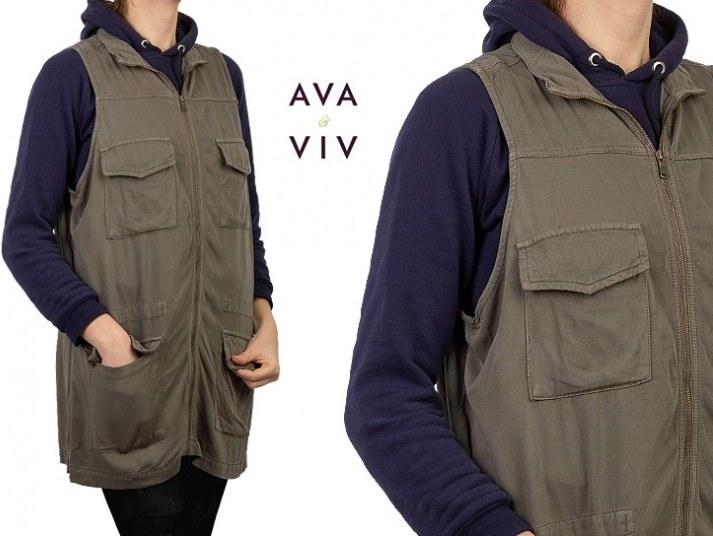 مانتو کتان آستین حلقهای Ava Viv