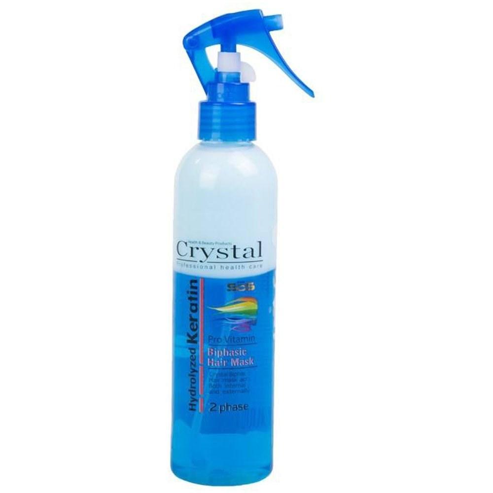تصویر اسپری دو فاز کراتینه کریستال حجم 250 میل - آبی Crystal Hydrolyzed Keratin 2 Phase Hair Mask 250ml - Blue