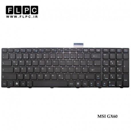 تصویر کیبورد لپ تاپ ام اس آی MSI GX60 Laptop Keyboard مشکی-بافریم