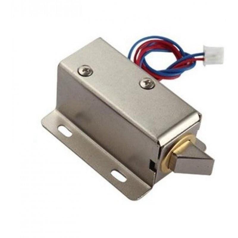 تصویر قفل برقی سلونوئیدی کابینتی 12 ولت Solenoid electric lock