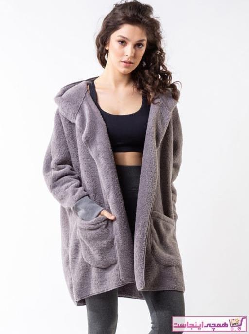 تصویر ژاکت بافتی زنانه شیک جدید برند Minteks رنگ نقره ای کد ty77576981