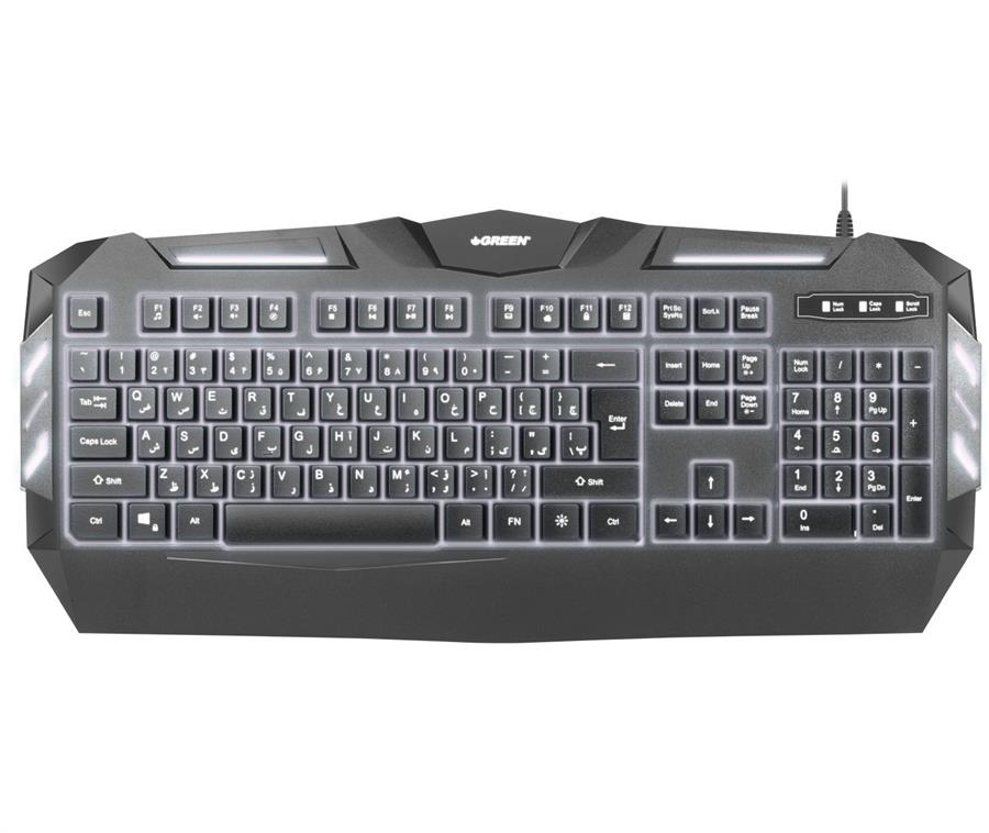 تصویر Keyboard Green Gk403 Gaming Wired کیبورد باسیم مخصوص بازی گرین Gk403