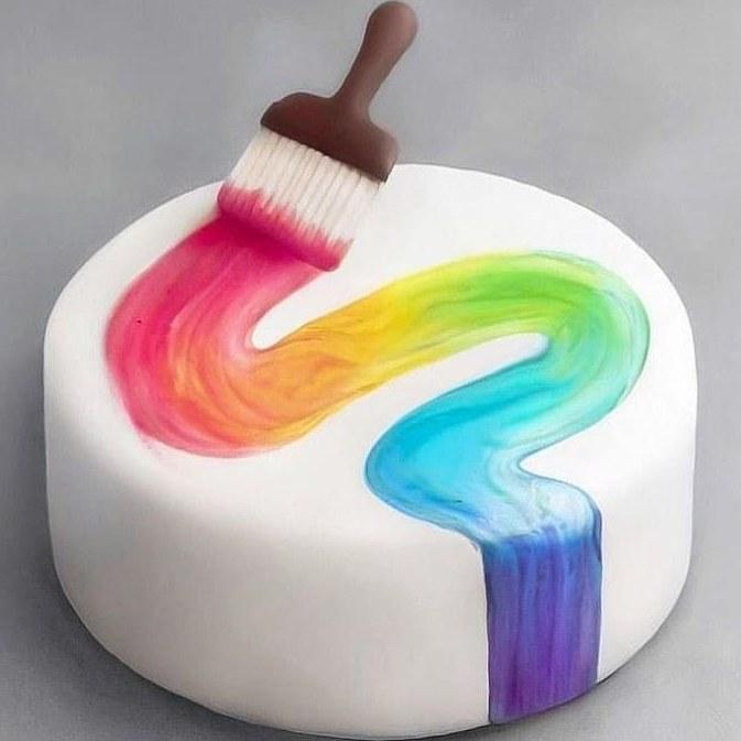 تصویر کیک فانتزی طرح نقاشی - مینی کیک / میوه ای Fantasy Cake