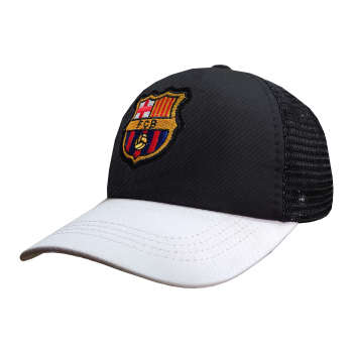 کلاه کپ پسرانه طرح بارسلونا کد PT-30381 رنگ مشکی