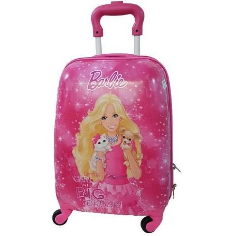 عکس چمدان کارتونی باربی سایز20  چمدان-کارتونی-باربی-سایز20