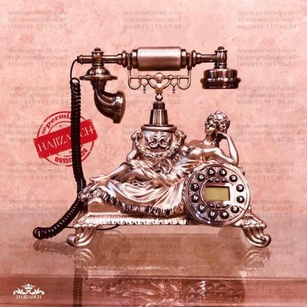تصویر تکنیکال تلفن زن خوابیده  برنزی و سفید  83070