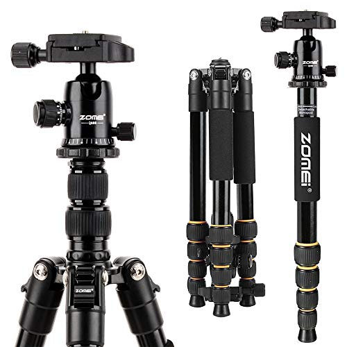 MeFOTO GlobeTrotter Classic 64.2 Aluminum Travel Tripod//Monopod w//Case Twist Locks Triple Action Ballhead w//Arca Swiss Plate for Mirrorless//DSLR Sony Nikon Canon Fuji Green A2350Q2G