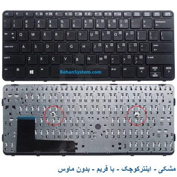 تصویر کیبورد لپ تاپ HP مدل Elitebook 820-G2 به همراه لیبل کیبورد فارسی جدا گانه