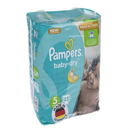 پوشک پمپرز مدل Baby Dry سايز 5 بسته 23 عددي | Pampers Baby Dry Size 5 Diaper Pack of 23