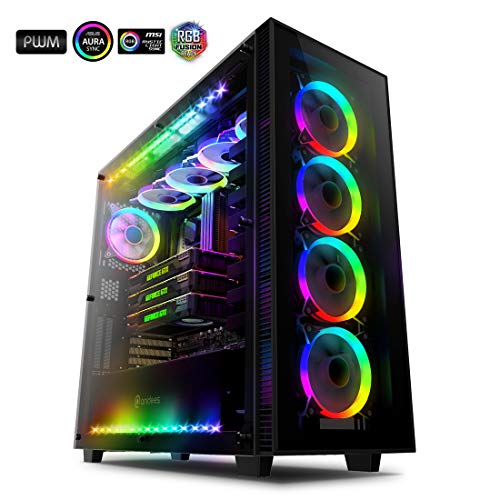 عکس anidees AI Crystal XL RGB V3 Full Tower Tempered G ...  anidees-ai-crystal-xl-rgb-v3-full-tower-tempered-g